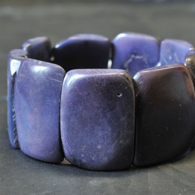 Veganes Armband aus Tagua, poliert